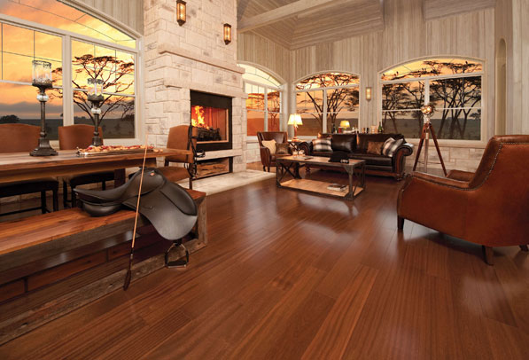 Exotic Collection – African Mahogany Brass by Mirage Floors