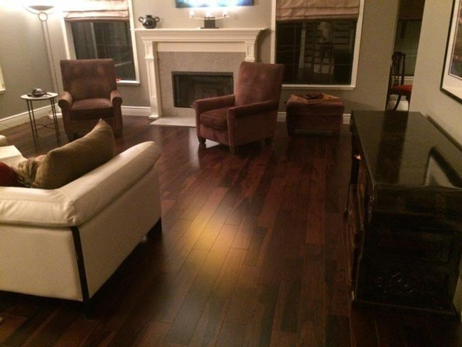Triangulo's Brazilian Pecan Engineered Hardwood Floors in the color Coffee installed in Fremont, CA by Slaughterbeck Floors
