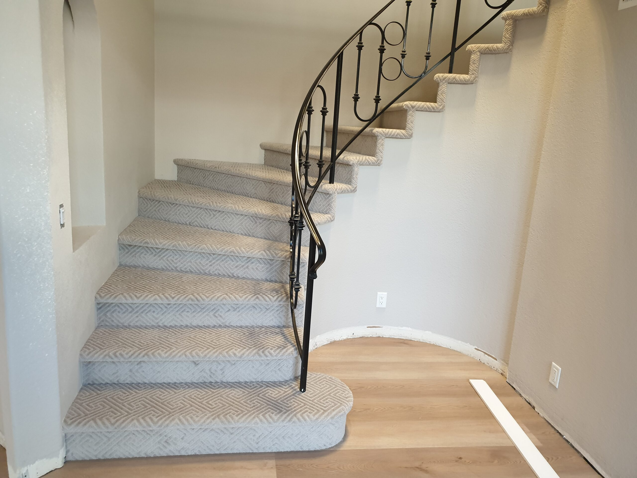 Carpet Flooring on Stairs in Mountain View Home