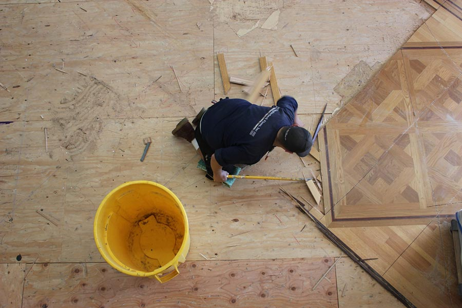 Tearing up the old floors | Slaughterbeck Floors