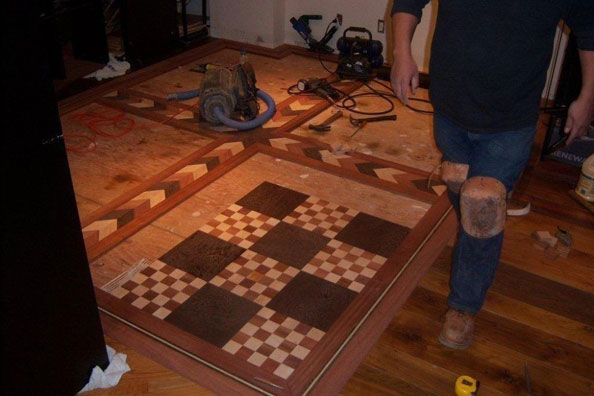 the floor is almost done!