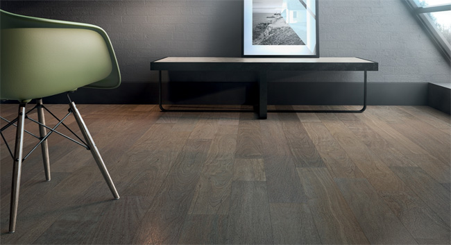 Indusparquet Textured Flooring Collection Brazilian Chestnut Ash Wire Brushed Texture