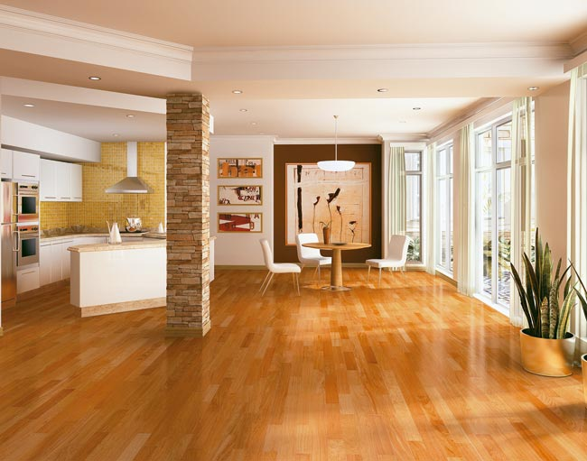 Brazilian Cherry Engineered Exotic Hardwood Floors by Triangulo
