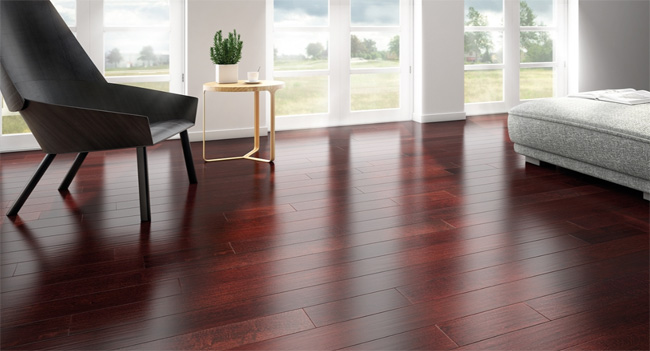 Indusparquet – Textured Flooring Collection – Brazilian Cherry Rouge Hand Scraped Without French Bleed