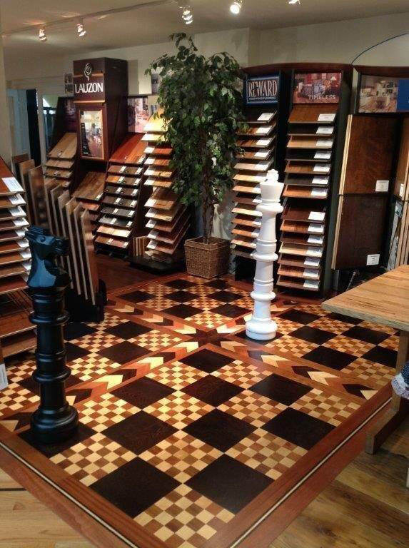 Chessboard floor in SBF showroom