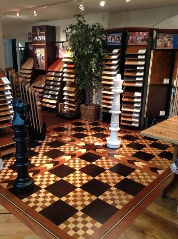 Chessboard floor in SBF showroom