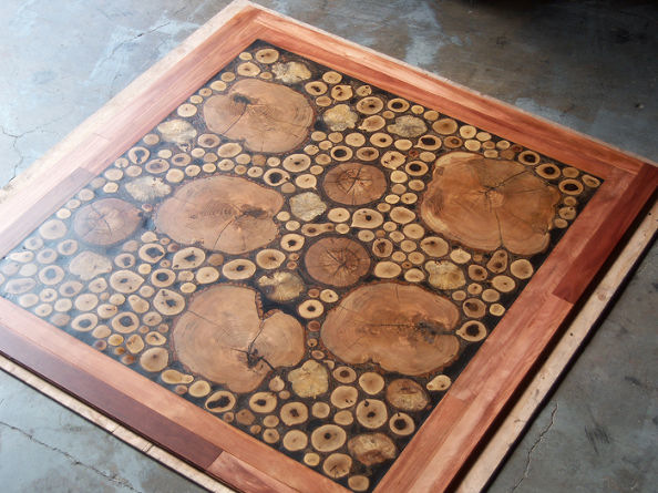 The finished Log Floor