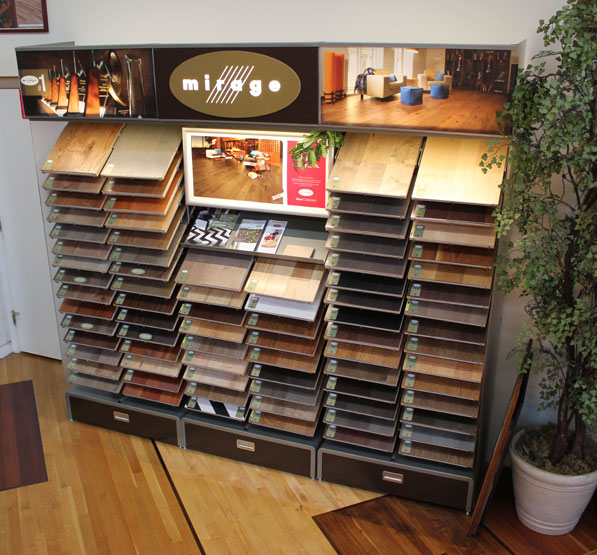 Mirage Floors Display in SlaughterBeck Floors' Showroom in Campbell, CA