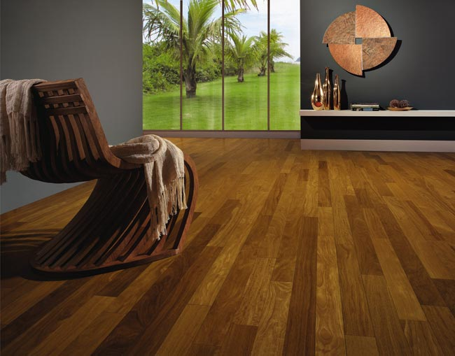 Brazilian Teak Engineered Exotic Hardwood Floors by Triangulo