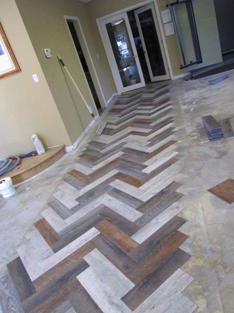 herringbone floor design