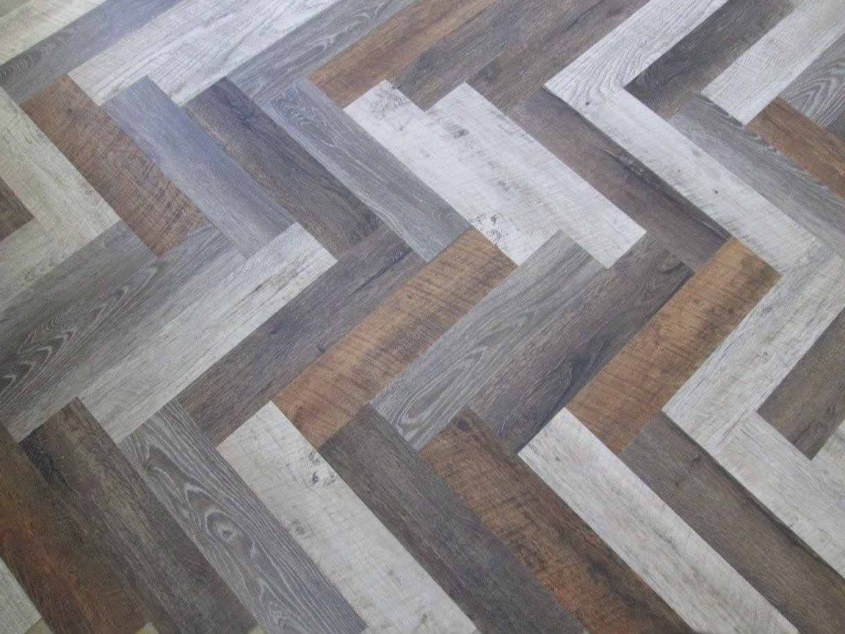herringbone vinyl plank floors