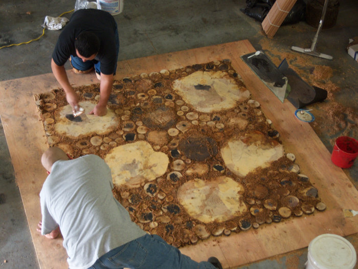 Making a burl floor 4