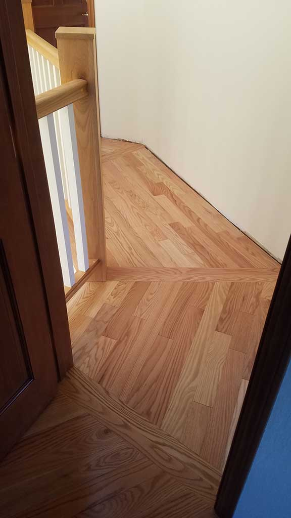 View from the Hallway of the New Hardwood Flooring Angles & Corners in a Los Gatos Home