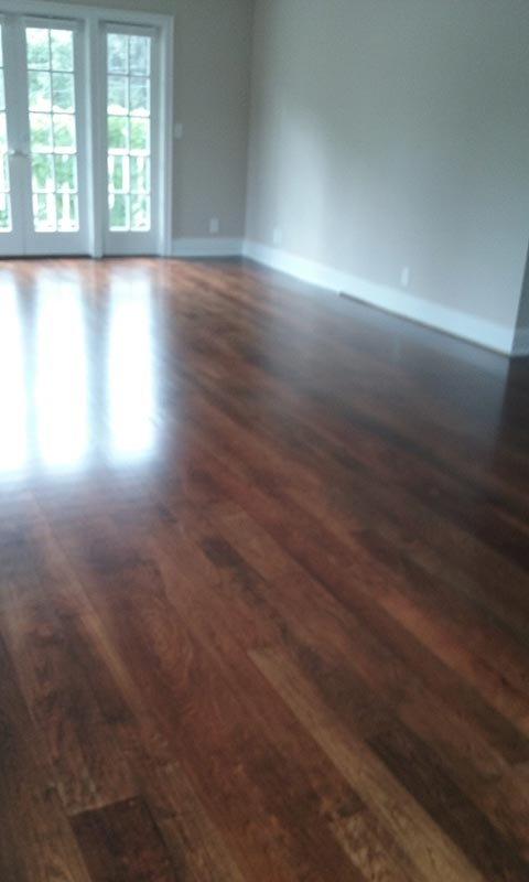 Living Room Cherry After Refinishing | Cherry Hardwood Flooring | Slaughterbeck Floors