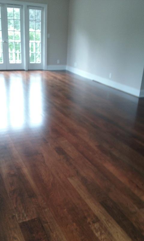 Living Room Cherry After Refinishing | Cherry Hardwood Flooring | Slaughterbeck Floors
