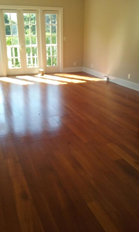 Living Room Cherry Before Refinishing | Cherry Hardwood Flooring | Slaughterbeck Floors