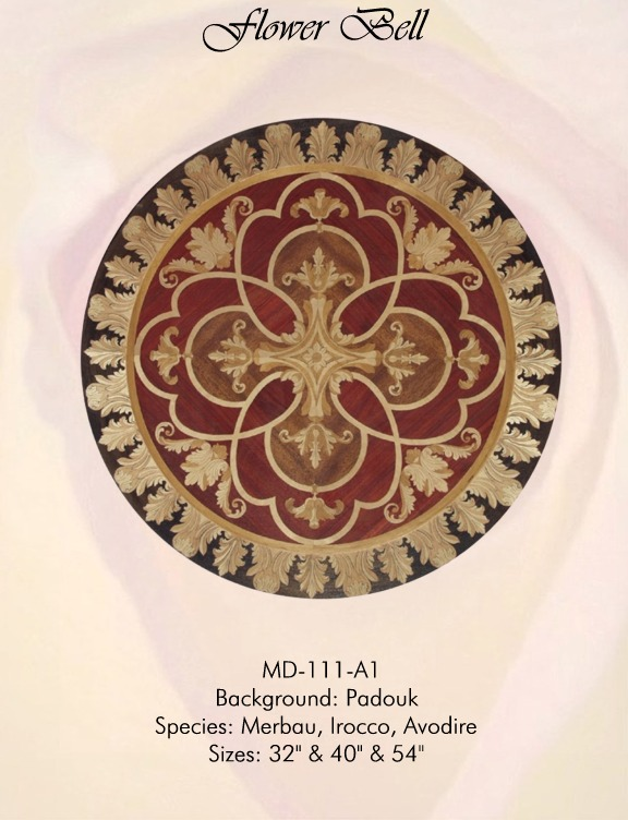 Flower Bell Medallion Hardwood Inlay