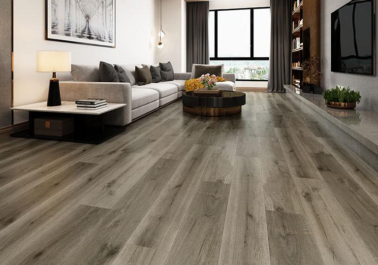 White 6123-10 Grey Fox SPC Floor