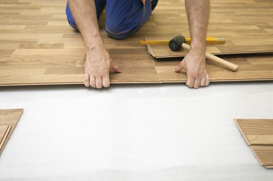 floating hardwood floor installation