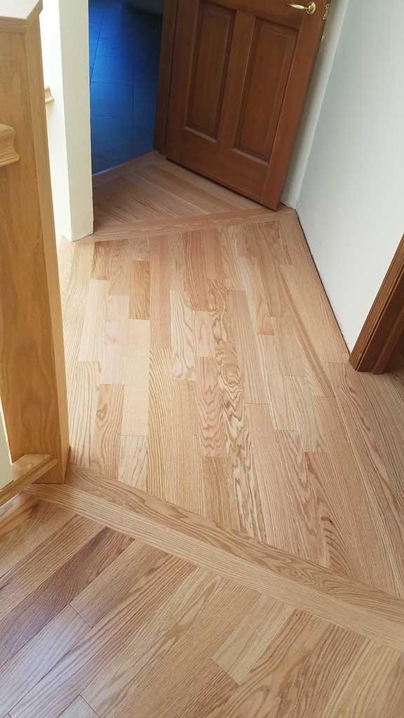 Hardwood Flooring Custom Angles & Corners in the Hallway of a Los Gatos Home