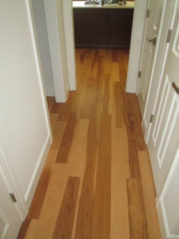 Hickory Hardwood Floors Installed in Hallway