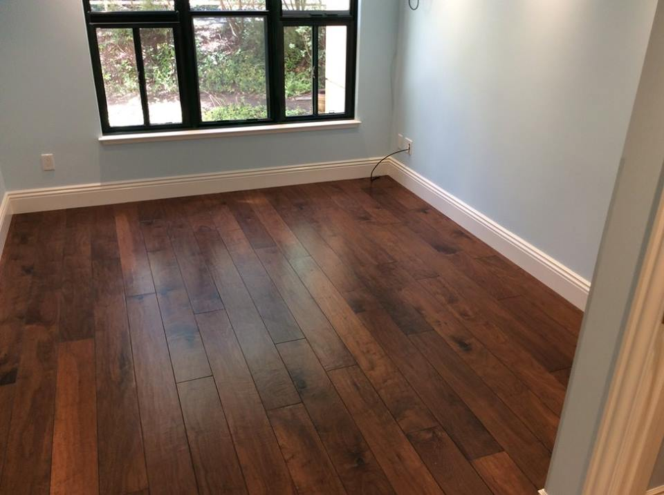 Walnut Hardwood Floors in Bedroom
