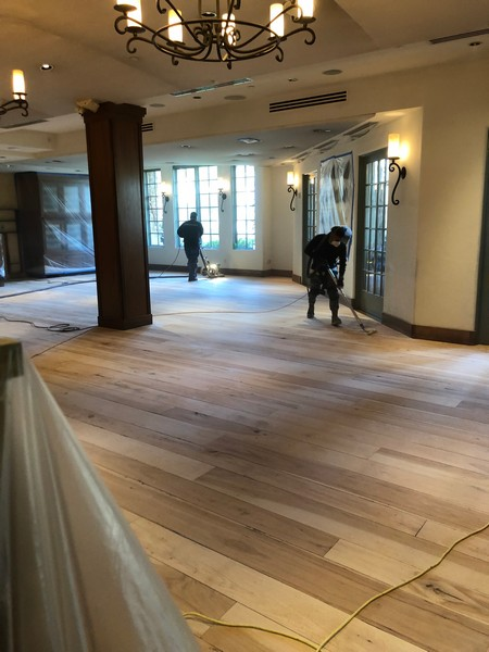 Hardwood Floor Refinishing in Restaurant