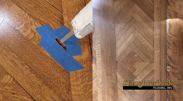 Repair Hole In Damaged Hardwood Floor