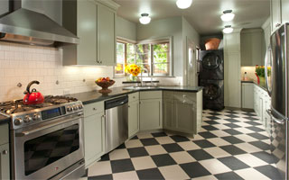 Kitchen Floors - Luxury Vinyl Tile