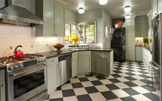 Kitchen Floors - Luxury Vinyl Tile