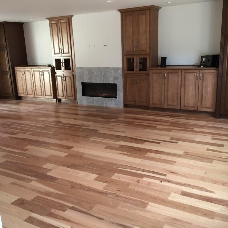 Hickory Hardwood Floors in Living Room