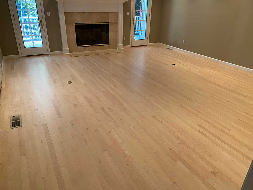 Living Room in Santa Cruz Home After Hardwood Floor Restoration