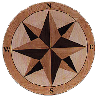 Coordinates Medallion hardwood inlay