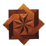Star Shaped Medallion hardwood inlay