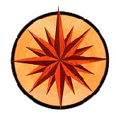 Sun Burst Medallion  hardwood inlay