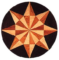 Starburst Medallion hardwood inlay