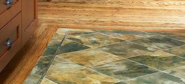 Red Oak with Luxury Vinyl Tile Inset