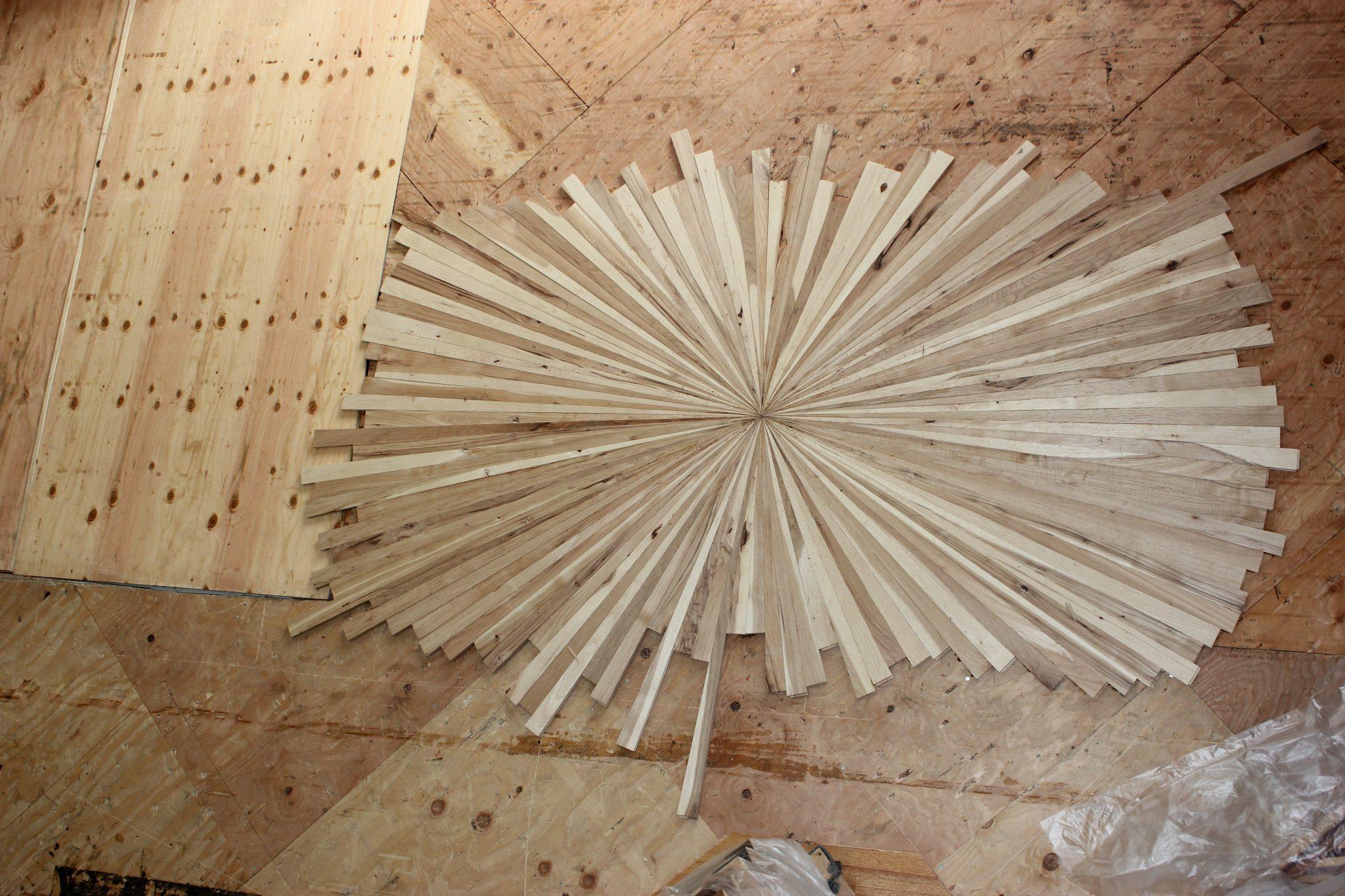 Arranging the starburst medallion pattern   Slaughterbeck Floors