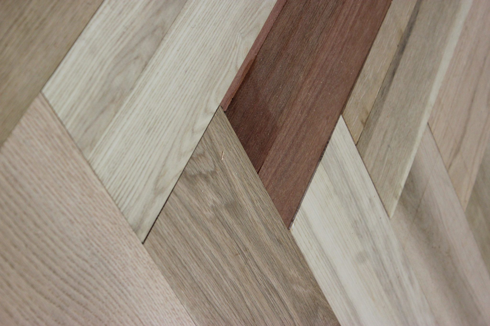 A close up of the herringbone pattern   Slaughterbeck floors