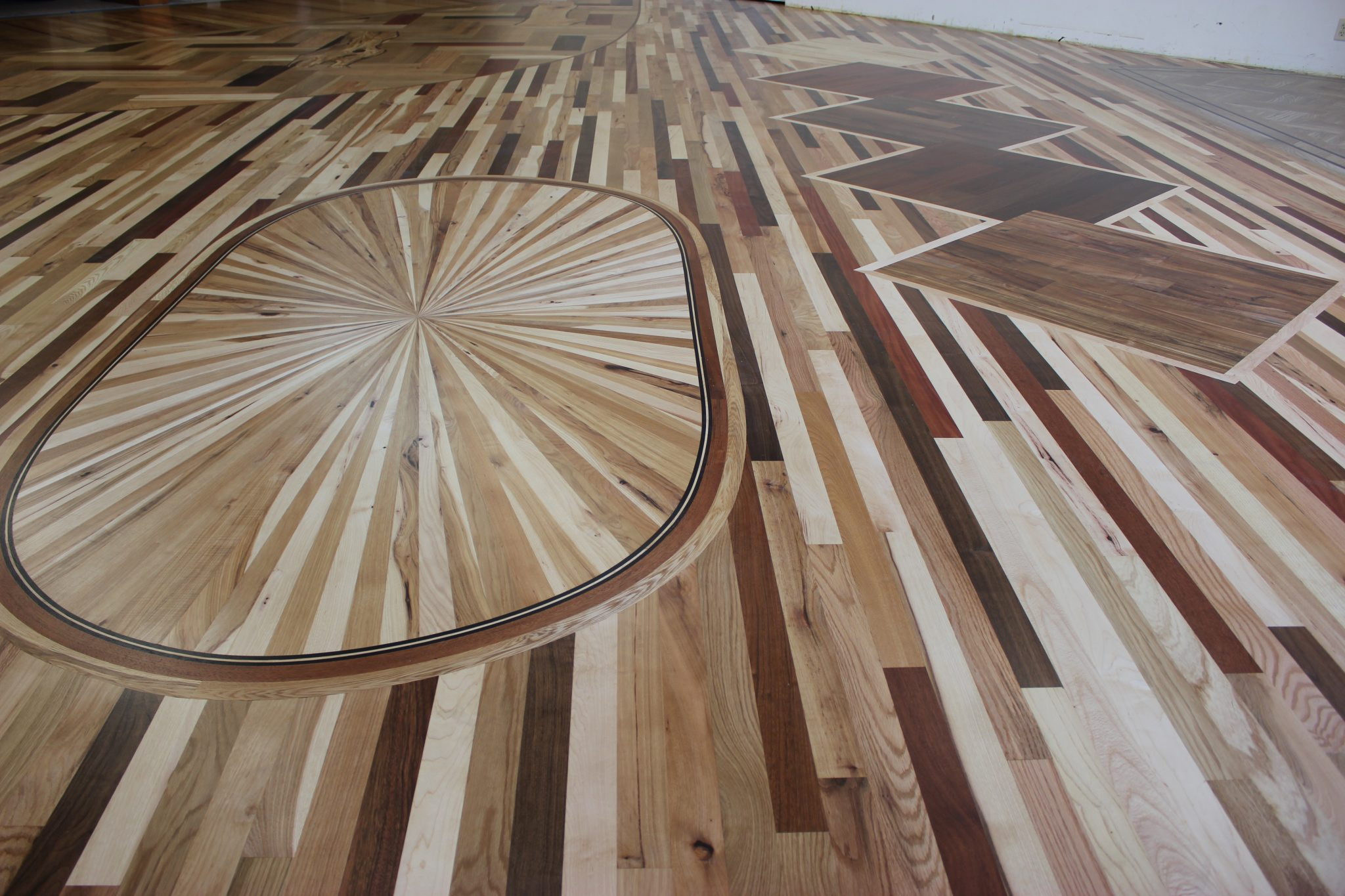 The finished hardwood after staining | Slaughterbeck Floors