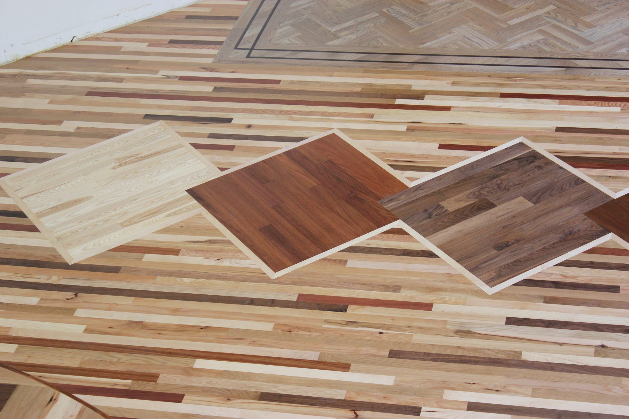 The finished four wood square section   Slaughterbeck Floors