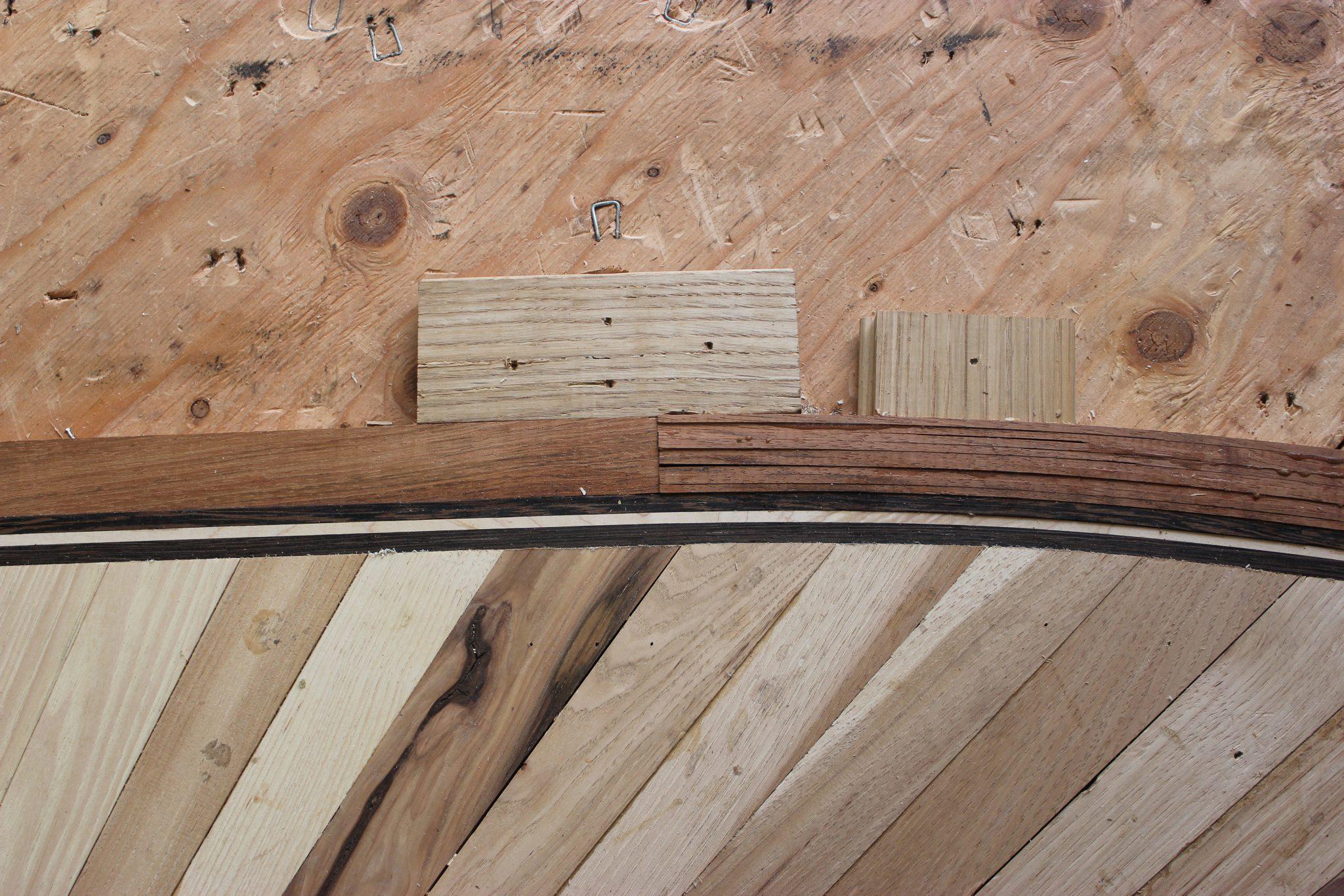 The custom bordering of the new floor   Slaughterbeck Floors