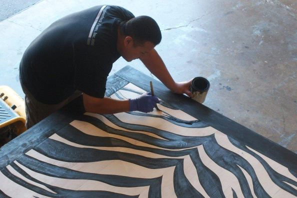 zebra floor