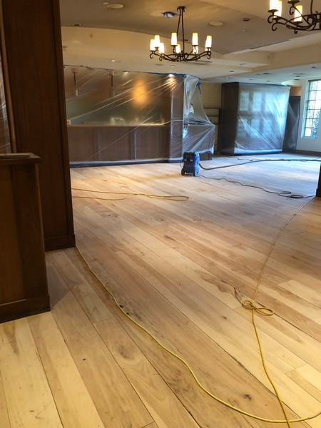 Restaurant hardwood floor refinishing los gatos