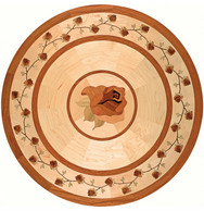 rose hardwood medallion