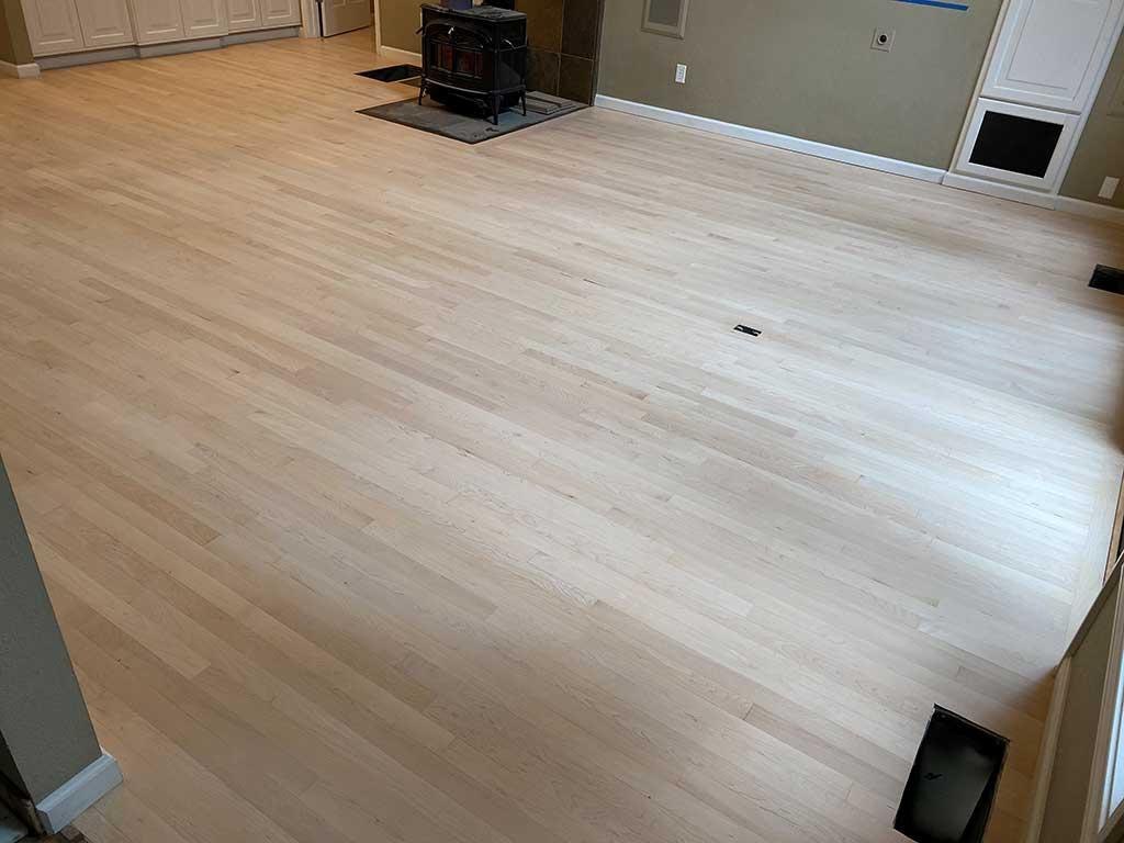 Study in Santa Cruz Home After Hardwood Floor Restoration